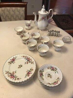 Vintage Moss Rose (Königliche Albert Moss Rose England Tee-Set Vintage Porzellan Teeservice)