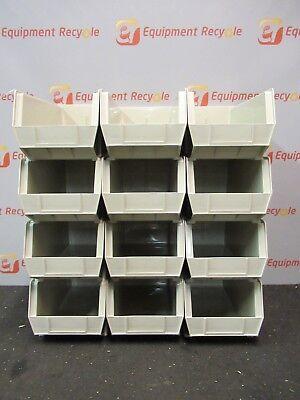 Akro-mils 30240 Stone Hang Stack Bins Tan 7x8 14x14 34 Storage New Lot12