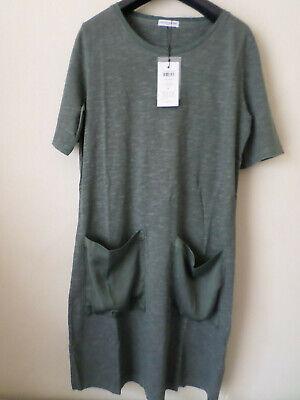 NEW LADIES JACQUELINE DE YONG GREY JERSEY T-SHIRT DRESS SIZE: S RRP:£20
