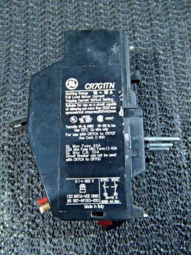 General Electric (GE) Overload Relay CR7G1TN