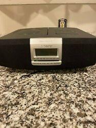 Tested - Sony Model ICF-CD821 Dual Alarm Clock CD Player AM/FM Radio -