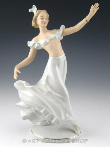 Vintage Wallendorf Germany Porcelain Figurine LADY GIRL DANCER Mint