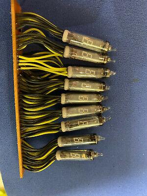 Dg8f Array Of 9 Vacuum Fluorescent Display Vfd Tubes Ise Japan Rare