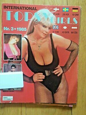 INTERNATIONAL TOPSY GIRLS - RARE1985  VINTAGE ADULT GLAMOUR MAGAZINE - FREE POST