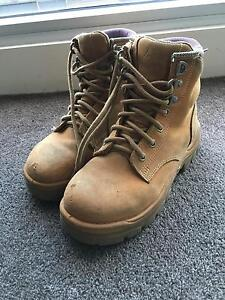 STEEL BLUE women's lace up safety steel cap boots RRP$180 East Melbourne Melbourne City Preview
