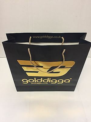 100 Designer Paper Rope Handle Carrier Bags Clearance 6x6x2.5