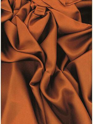 Solid Copper Western Cowboy Silk Wild Rag Bandana Buckaroo Scarf