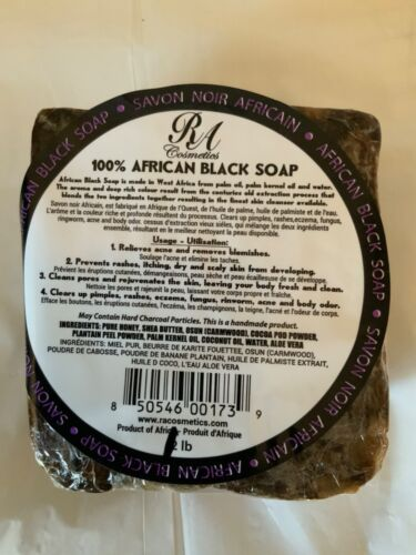 African Black Soap 1lb 100%