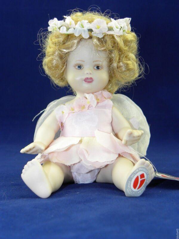 "Delton 6"" Porcelain Fairy Doll Blonde/Blue/Pink Outfit #8066-6"