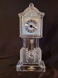 Shannon Crystal by Godinger Crown Crystal Grandfather Vintage Clock