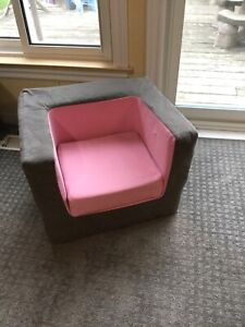 Monte cubino chair pink and grey