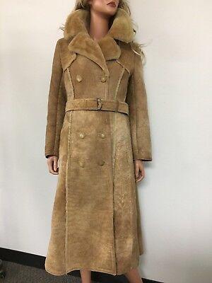 Vintage NORM THOMPSON The SHEEPSKIN SHOP Sheepskin coat women Size 12