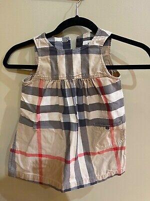 Burberry Nova Check Sleeveless Toddler Dress 24 months (2T)