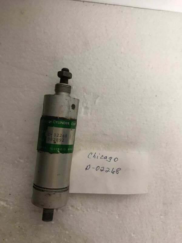 CHICAGO D-02268 082892 PNEUMATIC AIR CYLINDER, USED -FREE SHIPPING-