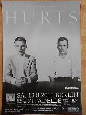 HURTS 2011 BERLIN   orig.Concert-Konzert-Tour-Poster-Plakat DIN A1