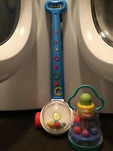 PLAYSKOOL PRESS & SPIN BALL POPPER & FISHER PRICE CORN POPPER