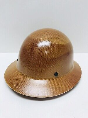 Msa Skullgard Full Brim Hard Hat With Staz On Suspension - Natural Tan
