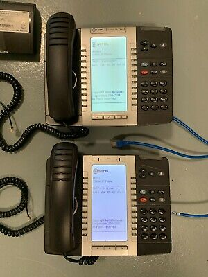 Lot Of 2 Mitel 5340e Backlit Display Phone Ip Voip