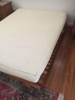Futon queen oak and cotton futon mattress