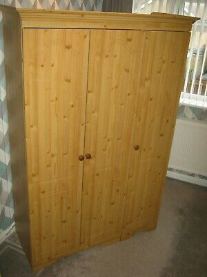 USED 3 DOOR PINE WARDROBE