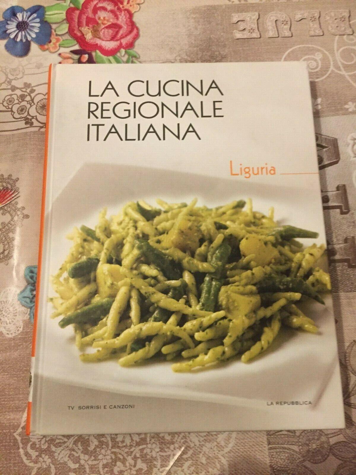 LA CUCINA REGIONALE ITALIANA LIGURIA vol. 5  TV SORRISI E CANZONI LA REPUBBLICA