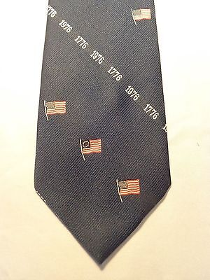 VINTAGE MENS TIE 1950'S 1960'S 1970'S FASHION FUN AMERICANA 1776 59 X 4
