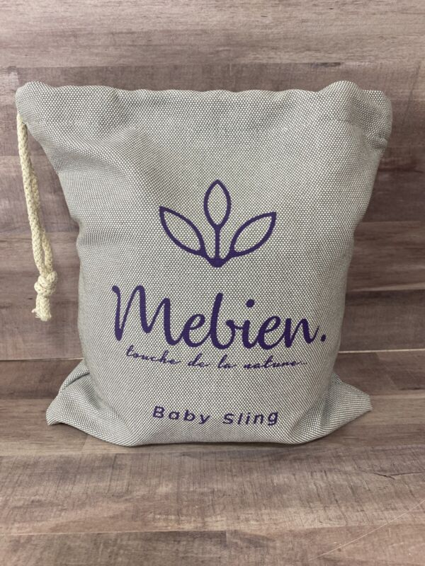 Mebien~ NWOB Gray Cotton Muslin Gauze Baby Ring Sling Wrap Carrier  New!
