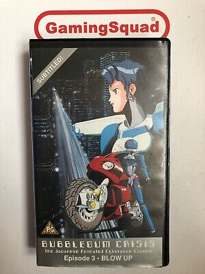 Bubblegum Crisis Episode 3 Blow Up VHS ANIME MANGA, Supplied by Gaming Squad