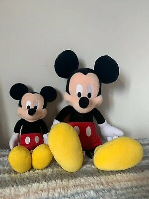 Walt Disney World Parks Mickey Mouse Plush Set Of Two. Large And Small Plush