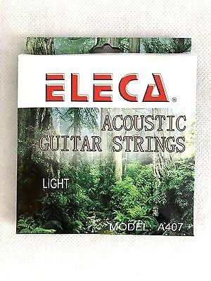 ELECA Acoustic Guitar Strings, 12 Gauge  Light, 1 pack, A407