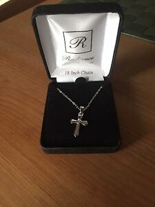 Silver Cross necklace- communion gift