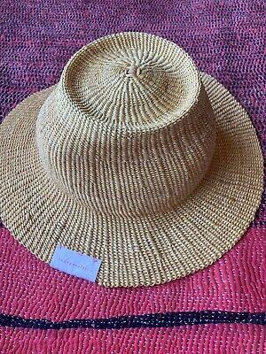 New INDEGO AFRICA Women's Accessories Beige Straw Hat