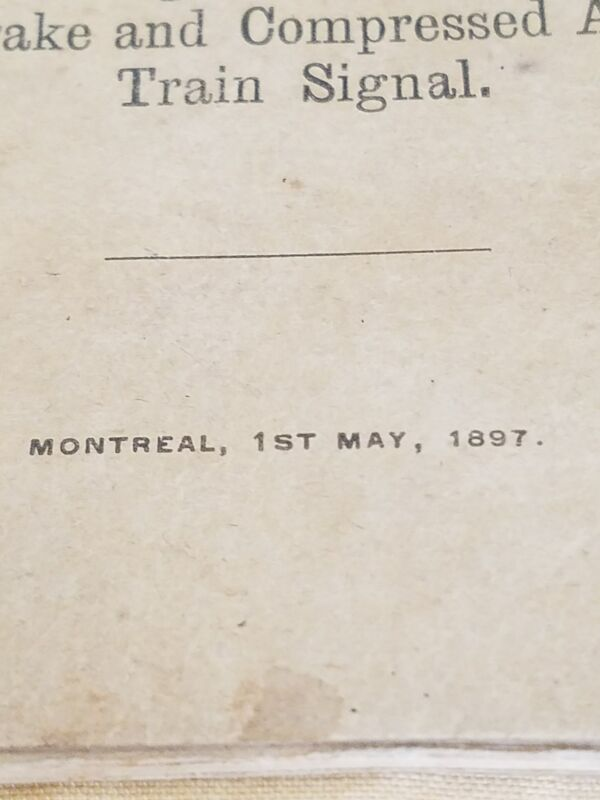 1897 CANADIAN PACIFIC RAILWAY RULES BOOKLET Westinghouse Automatic Brake Train