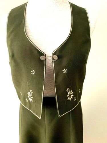 Perry in Trachten  Sz 40  US 8  Bavarian Outfit Oktoberfest Vest  & Skirt Wool