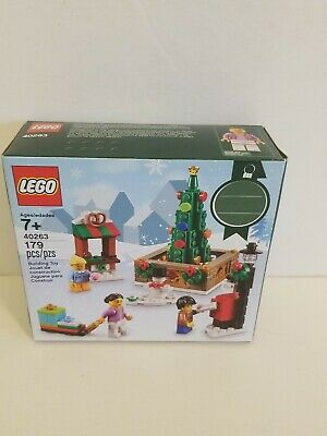 LEGO 2017 #40263 CHRISTMAS TOWN SQUARE - New & Sealed WITH 3 MINIFIGURES