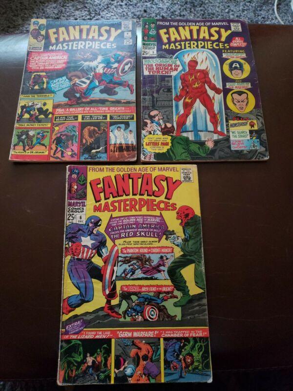 Marvel Fantasy Masterpieces of Golden Age #4 , 6 & 9 VG/FN LOT OF 3 MARVEL 1966
