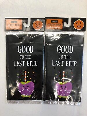 40 (2 packs of 20)  cello Halloween trick or treat bags 4