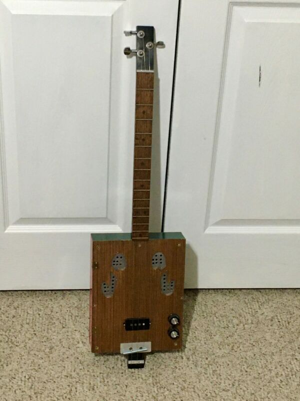 3 String Acoustic Electric Cigar Box Type Guitar, Custom Build