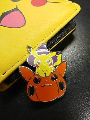 pokemon pikachu halloween pumpkin pin hard enamel