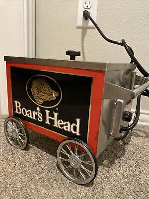 VERY RARE! Boars Head Mini Hot Dog Cart Stand Collectible Collectors Antique