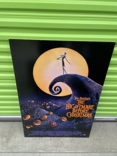 """THE NIGHTMARE BEFORE CHRISTMAS THICK BOARD MOVIE THEATER POSTER 40"""" X 27"""""""