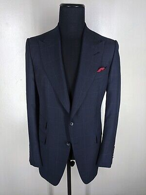 Tom Ford Peaked Lapel Wool & Mohair Sport Coat 2 Btn 1 Vent US 44 Long Near (Tom Ford Us)