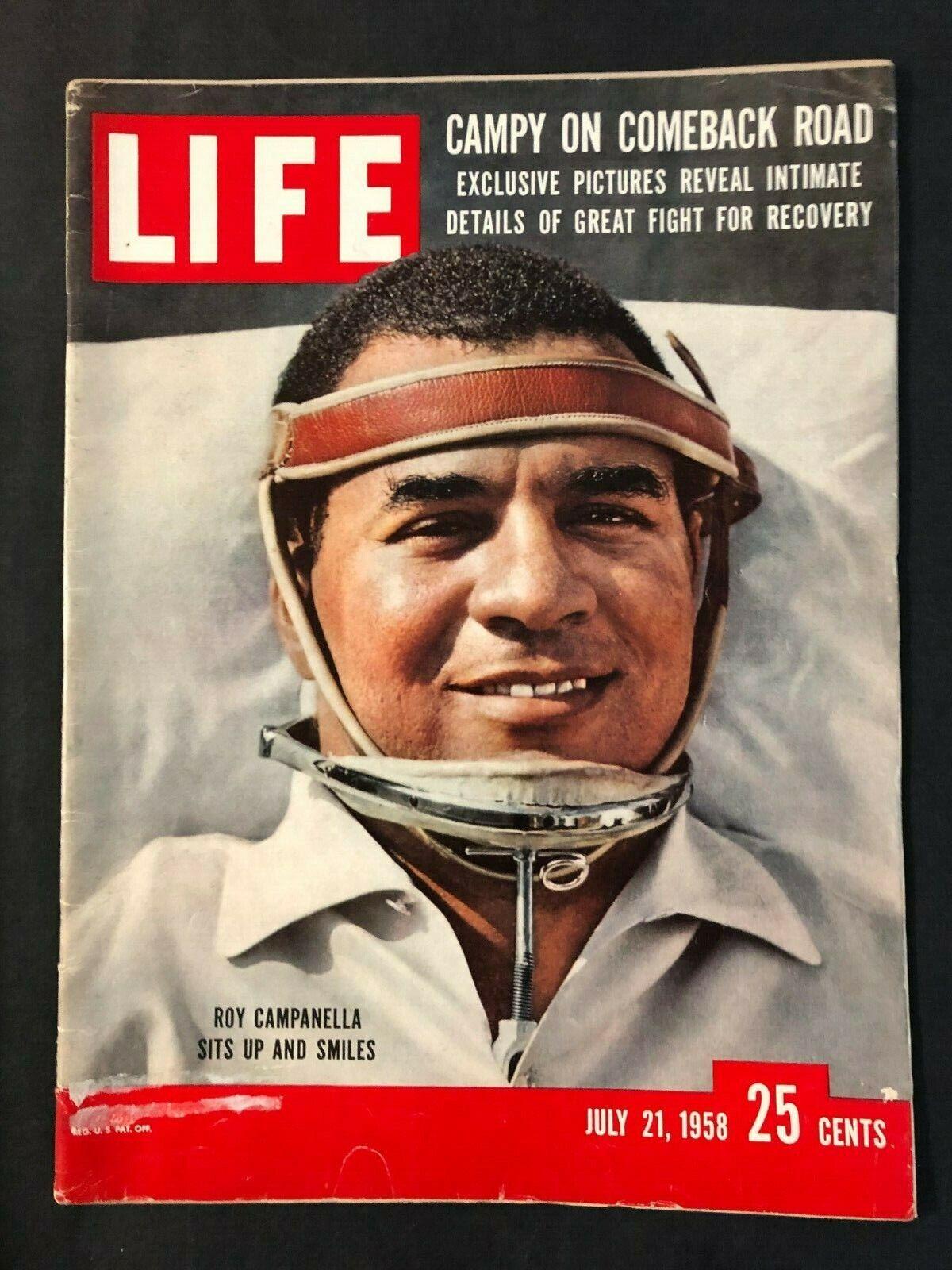 Life Magazine July 21 1958 Roy Campanella