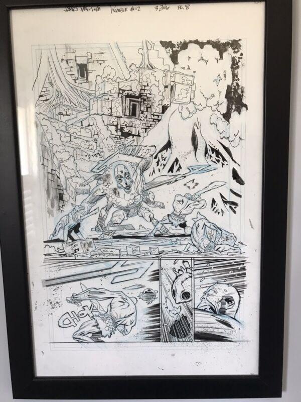 James Harren original art Rumble Issue 12 Page 8
