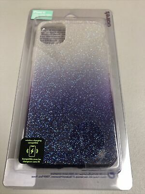 CLAIRE'S PURPLE OMBRE CAVAIR GLITTER PHONE CASE FITS IPHONE 11 NEW FREE SHIP