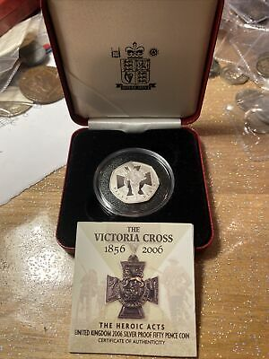 The Victoria Cross 1856-2006 Silver Proof 50p BOX AND COA UK POST FREE