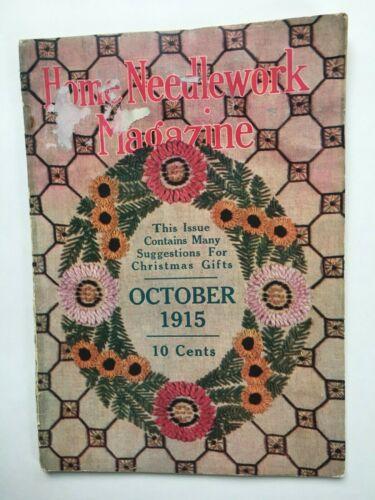 Home Needlework Magazine October 1915 Patterns Crochet Ads Illust. Christmas