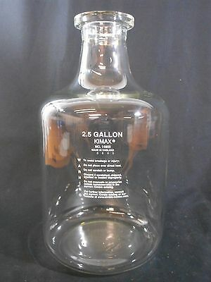 Kimble Kimax Carboy Style Glass Solution Bottle 2.5 Gal 9.5l 12 Neck 14950-25