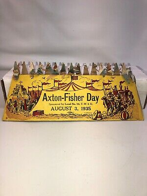 1935 Axton Fisher Carnival Fair Circus Childs Hat Honeycomb Crown Rare