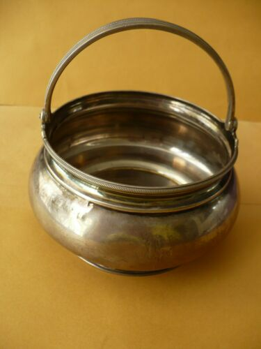 Vintage Silver Sugar Bowl Candy Dish Handmade by PJS